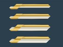 Złoto niski trzeci sztandar ilustracji