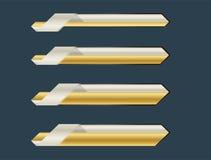 Złoto niski trzeci sztandar ilustracja wektor