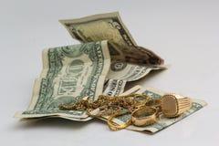 złoto ornamentów dolarów Obrazy Royalty Free