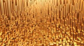 Złoto Pieniądze projekta tła 3d abstrakcjonistyczna ilustracja zdjęcie royalty free