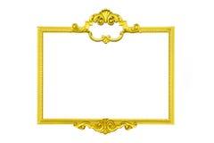 Złoto rama odizolowywa Obraz Stock