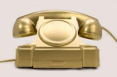 złoto telefon Obrazy Stock