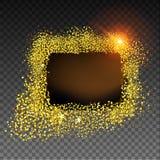 Złoto textured rama Ilustracji