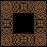Złoto wzór w ramie w araba lub celta stylu Obrazy Royalty Free