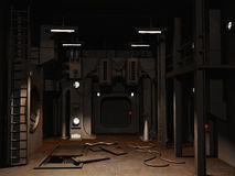 Z otwartym usługowym lągiem scifi pusty pokój Obrazy Royalty Free