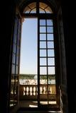 Z otwartym widok duży okno obrazy stock