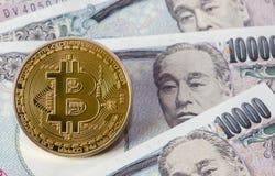 Złoty Bitcoin Obraz Royalty Free