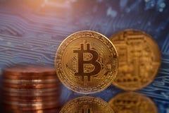 Złoty Bitcoin Cryptocurrency zdjęcie stock