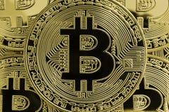 Złoty Bitcoins Zdjęcia Royalty Free