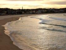 Złoty brzask nad Spokojnym oceanem Zdjęcie Royalty Free