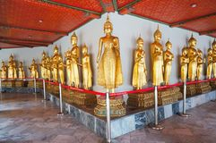 Złoty Buddha przy Watem Pho Bangkok, Tajlandia Obrazy Royalty Free