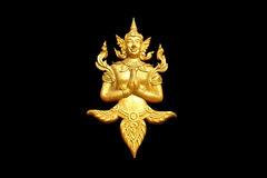 Złoty Buddha stiuku tajlandzki wzór Obrazy Stock