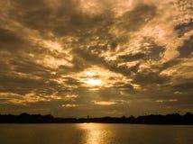 złoty chmura Zdjęcie Stock