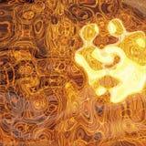 złoty cieczy Fotografia Royalty Free