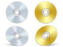 złoty dvd srebra Zdjęcia Royalty Free