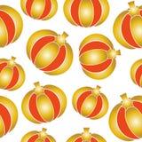 Złoty dyniowy bezszwowy wzór Obraz Royalty Free