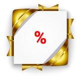 Złoty dyskontowy sztandar Obraz Stock