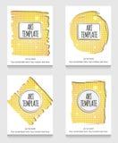 Złoty eklektyczny ulotka szablon Obraz Royalty Free