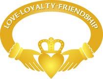 złoty eps claddagh paddy Obrazy Royalty Free