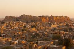 złoty fortu jaisalmer Obrazy Royalty Free