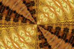 złoty futerkowy abstrakcyjne Obrazy Stock