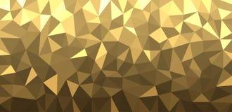 Złoty geometryczny abstrakcjonistyczny sztandar Zdjęcie Stock