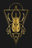 Złoty geometryczny i Obrazy Royalty Free