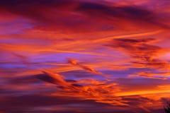 Złoty godziny niebo Fotografia Stock