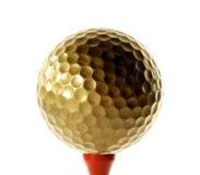 złoty golfball Fotografia Royalty Free