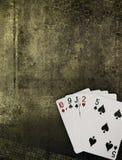złoty grunge pokera. Fotografia Royalty Free