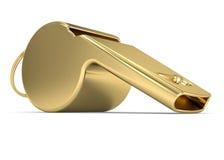 złoty gwizd Zdjęcie Royalty Free