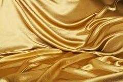 złoty jedwab Obrazy Stock