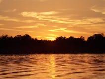 złoty jeziora Zdjęcia Royalty Free