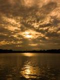 złoty jeziora Obraz Stock
