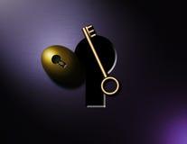 złoty klucz Zdjęcia Royalty Free
