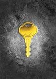 Złoty klucz Zdjęcie Royalty Free