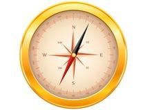 Złoty Kompas Zdjęcia Royalty Free