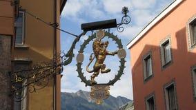Złoty lwa znak Obraz Royalty Free