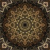 Złoty mandala Fotografia Royalty Free