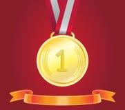 Złoty medal, wektor Fotografia Royalty Free