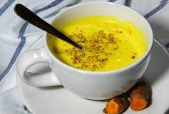 Złoty mleka lub Turmeric Latte Obrazy Royalty Free