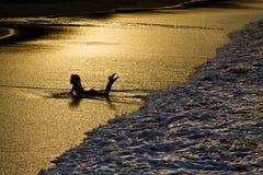 złoty morze Obrazy Royalty Free