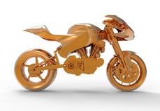 Złoty motocykl Fotografia Royalty Free