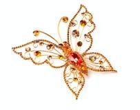 złoty motyl Fotografia Royalty Free