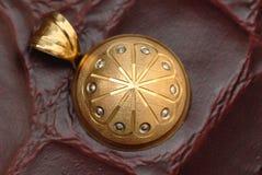 złoty naszyjnik Fotografia Stock