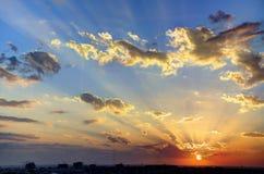 Złoty niebo zdjęcia royalty free