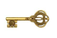 złoty odosobniony kluczowy biel Obrazy Stock