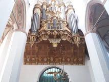 Złoty organ Zdjęcia Royalty Free