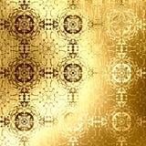 Złoty orientalny wzór, ludowi tradycyjni elementy Zdjęcie Royalty Free