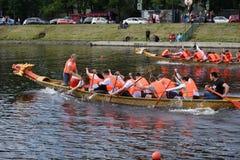 Złoty ostrza Regatta w St Petersburg, Rosja Obrazy Royalty Free